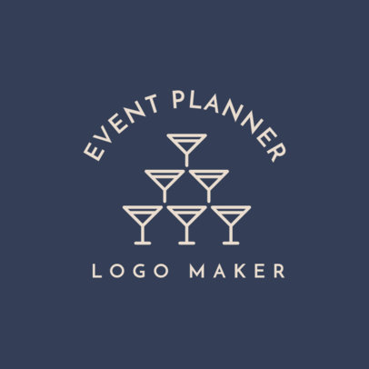 Event Planner Logo Maker with Wedding Symbols 1243c