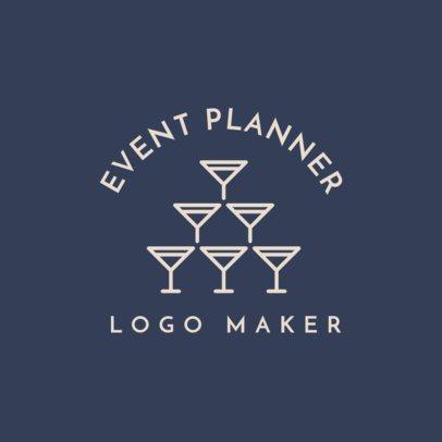 Event Planner Logo Maker with Wedding Symbols 1243c