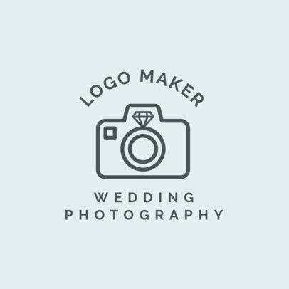 Wedding Photographer Logo Maker with Wedding Icons 1243d