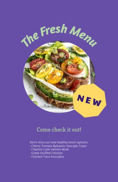 Customizable Flyer Template for Healthy Restaurants 96e