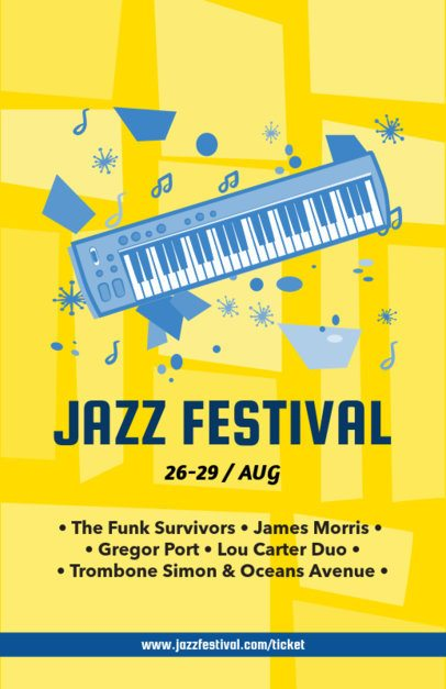 Online Flyer Maker for a Jazz Festival 83e