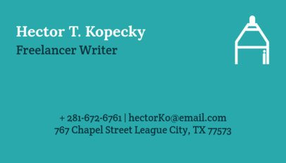 Business Card Maker for Freelance Writers 77a