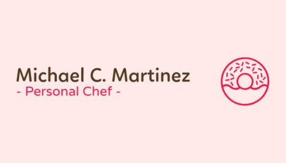 Business Card Maker for Personal Chefs 77c