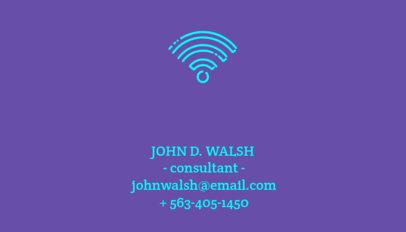 Consultant Business Card Maker 77e