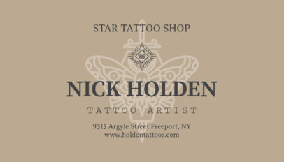 Elegant Business Card for Tattoo Shops 95a-1819