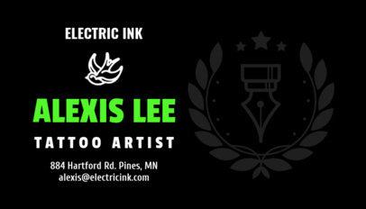 Business Card Template for the Best Tattoo Artist 95e