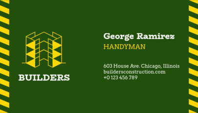Business Card Maker for a Professional Handyman 99b