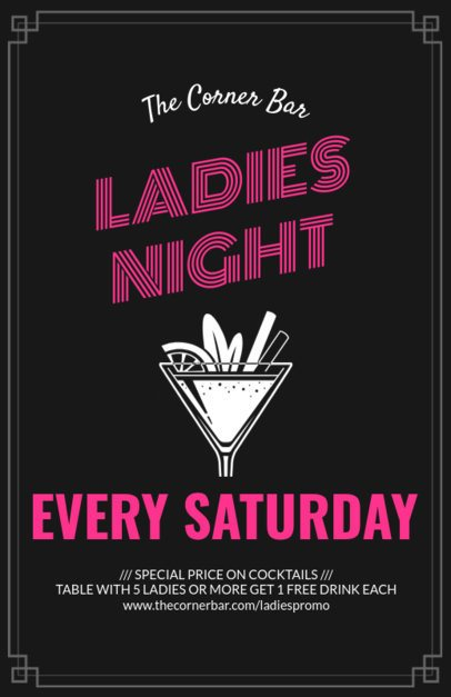 Online Flyer Maker for Ladies Night 94b