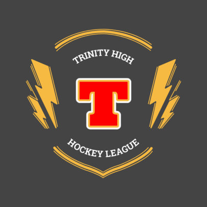 Hockey Team Logo Maker with Customized Sports Badges 44a