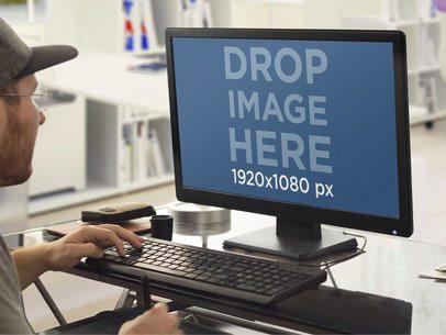 Mockup Generator of Designer Drawing on PC Desktop