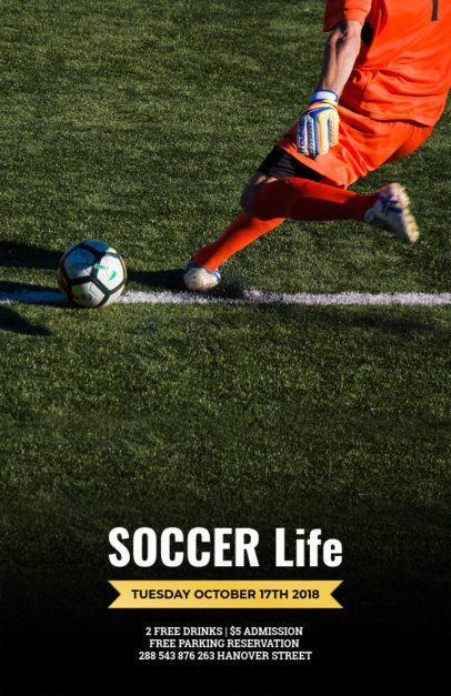Flyer Maker for Soccer Games 165d