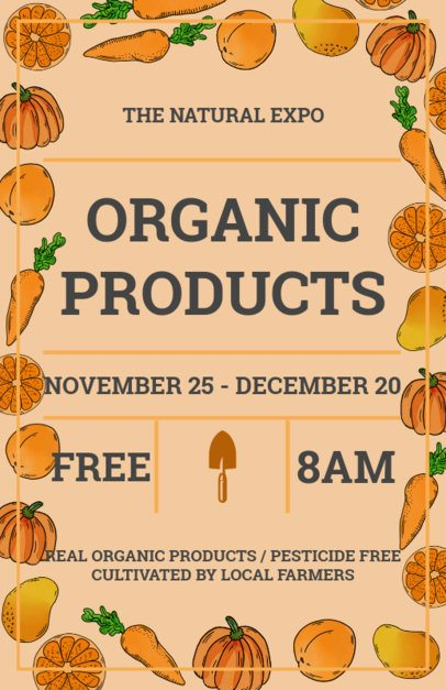 Organic Market Flyer Template Orange Theme 177d