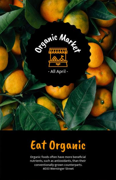 Farmers Market Flyer Maker with Oranges Background 194a