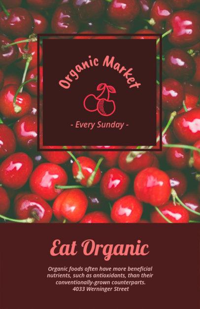 Farmers Market Flyer Maker with Grapefruit Background 194c