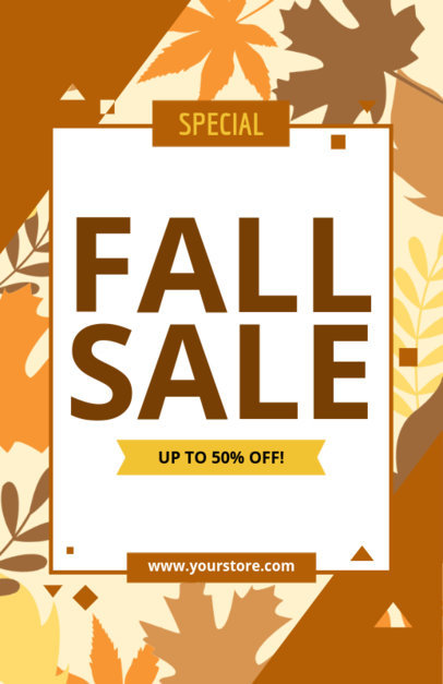 Sale Flyer Maker with Fall Theme 185c