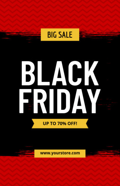 Flyer Template for Black Friday Sales 185d