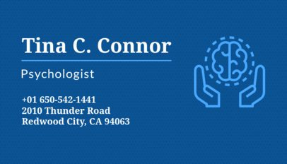 Psychotherapist Business Card Maker with Brain Icon 189b