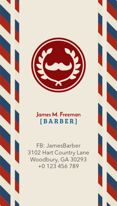 Business Card Maker for Barbers 110b-1903