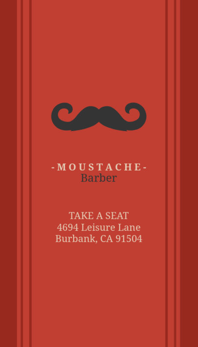Business Card Maker for Barbers with Mustache Graphics 110d-1903