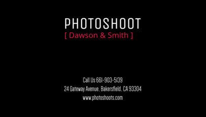 Photographer Business Card Maker 77d