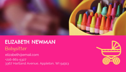 Babysitter Business Card Maker 136b