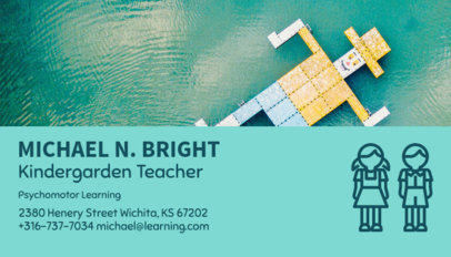 Business Card Maker for Kindergarten Teachers 136c