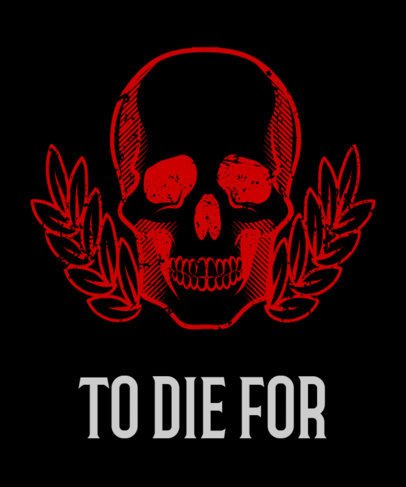 Skull T-Shirt Design Maker 11b