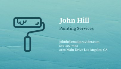 Business Card Maker for Painting Services 116a