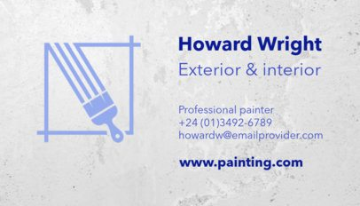 Business Card Maker for Professional Painters 116e