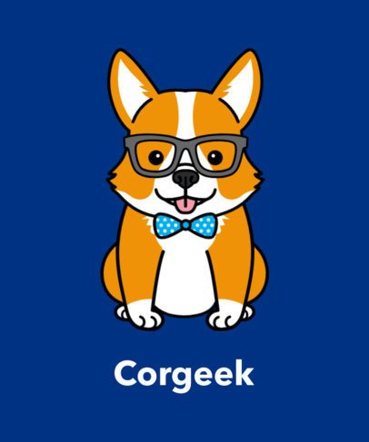 Dog T-Shirt Design Maker with Corgi Drawing 140a