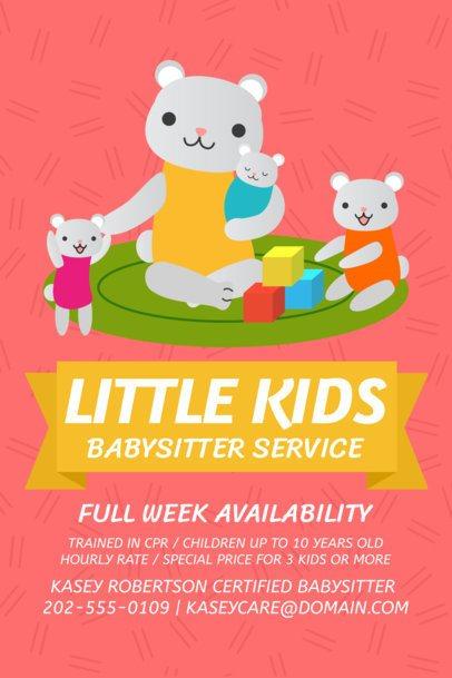 Flyer Maker for Babysitting Services a326