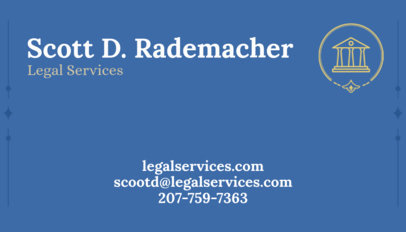 Business Card Maker for Legal Services a348