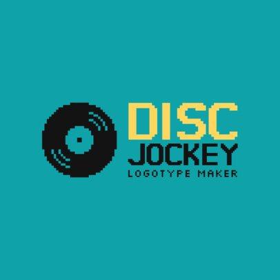 DJ Logo Maker with Vinyl Icon 1072c