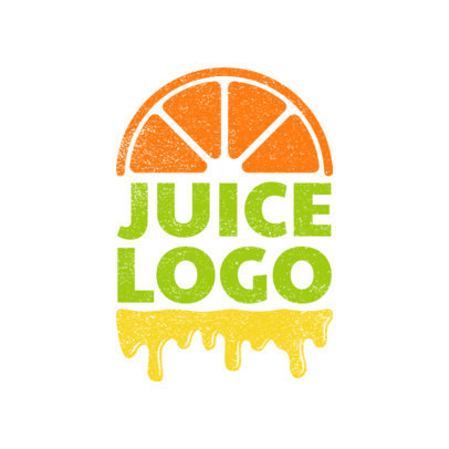 Juice Bar Logo Maker with Orange Clipart 1024e