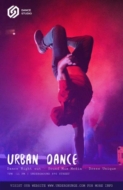 Online Flyer Maker for Urban Dance Classes 137e