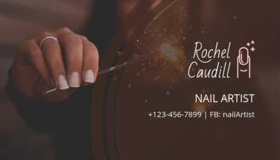 Online Business Card Maker for Nail Artists 126b-1903