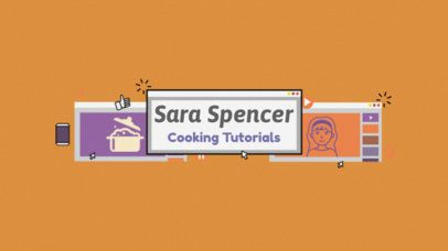 Youtube Channel Art Template for Cooking Channels 51a
