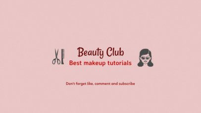 Youtube Channel Art Template for Makeup Tutorials 51b