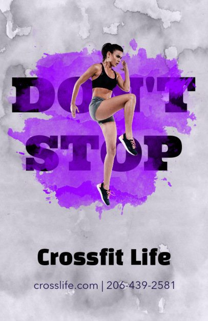 Colorful Flyer Maker for Crossfit Training Programs 171b