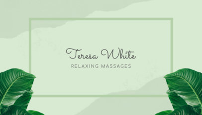Business Card Maker for Relaxing Spas with Relaxing Stones 150b
