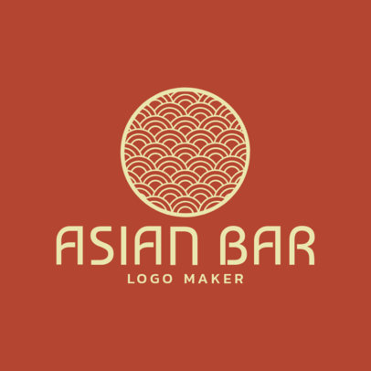 Online Logo Maker for an Asian Bar with Circle Graphic 1214c