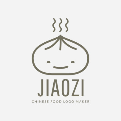 Chinese Restaurant Logo Maker with Dumpling Drawing 1214e