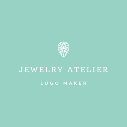 Online Logo Maker for a  Jewelry Shop with Diamond Icon 1208f