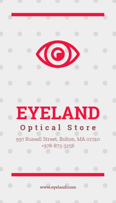 Business Card Maker for Optical Shops 172d
