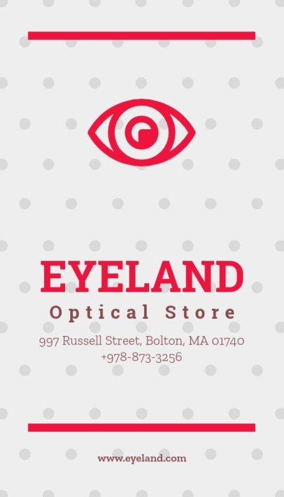 Business Card Maker for Optical Shops 172d