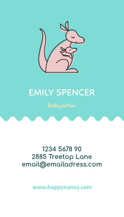 Vertical Babysitting Business Card Maker a354