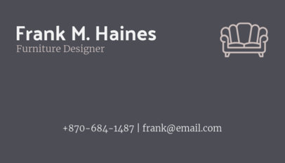 Business Card Maker for Furniture Designers 178c