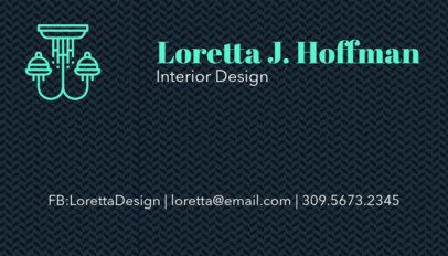 Interior Design Business Card Maker 178d