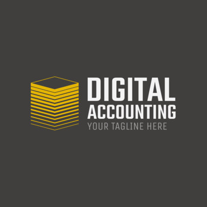 Online Logo Maker for Digital Accounting Services 1203c