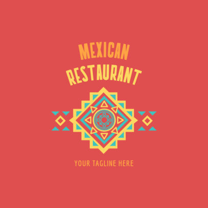 Restaurant Logo Maker Restaurant Logo Maker with Mexican Folk Art 1237a